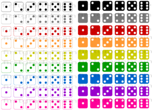 Colorful Dice Clipart For Personal And Commercial Use