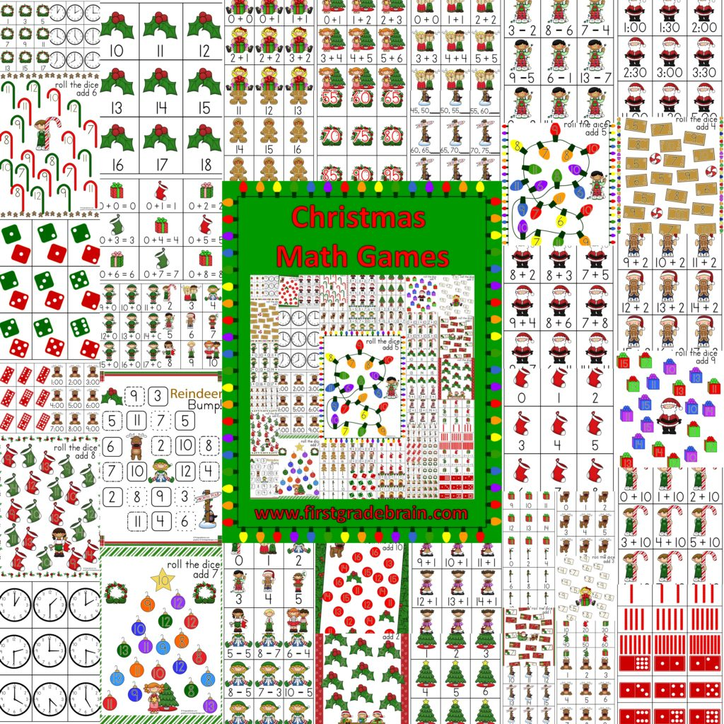 Christmas themed math games for Cool christmas math games