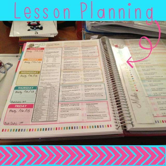 erin condren teacher planner lesson plan template first grade