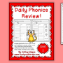 Daily Phonics Review Sheets (Works with or without Scott Foresman Reading Street!)